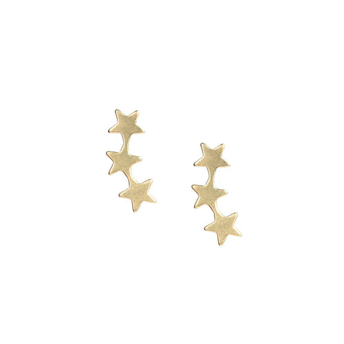 14k gold-filled and 14k SOLID GOLD Star Crawler Stud Earrings