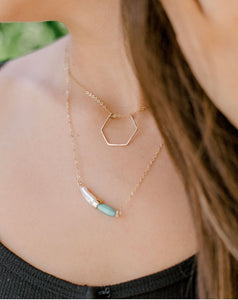 Hexagon Threader Necklace