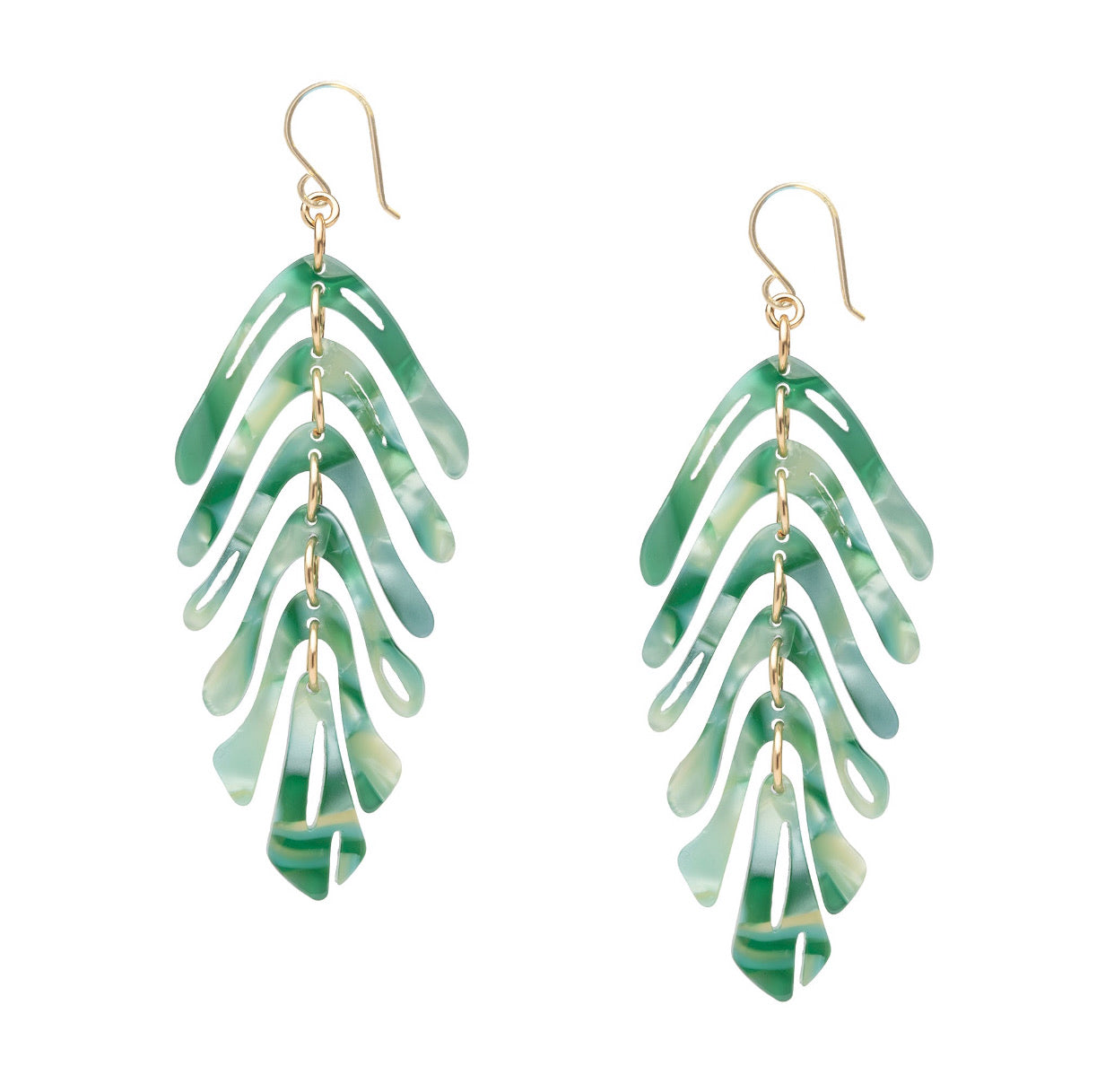 Banana Palm Leaf Earrings