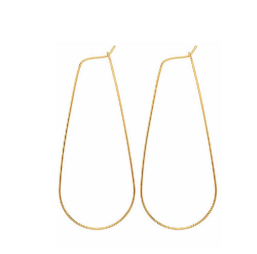 14k gold filled long threader hoop earrings