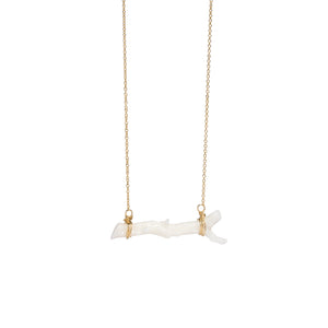 Coral Branch Bar Necklace