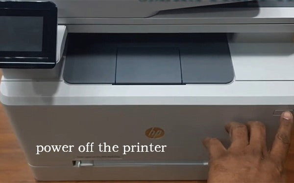 Unplug and power off the HP printer