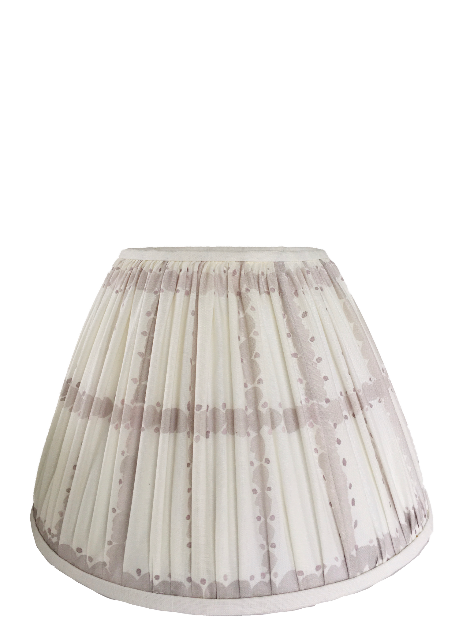 Pique Lavender Gathered Lamp Shade