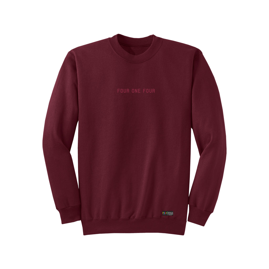 FOURTHECITY Crewneck - Maroon (Monochromatic)