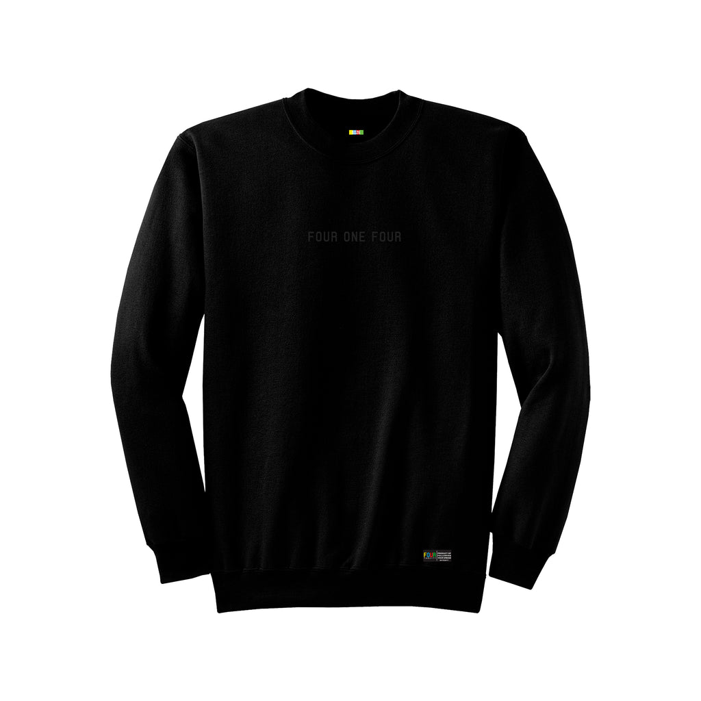 FOURTHECITY Crewneck - Black (Monochromatic)
