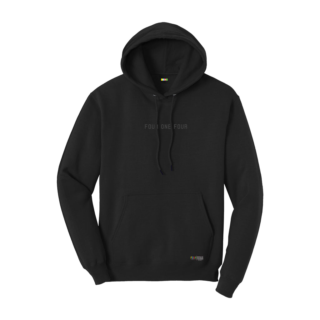 FOURTHECITY Hoodie - Black (Monochromatic)