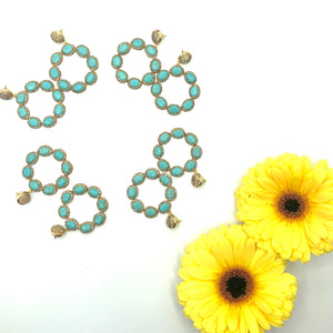 Doris - Turquoise or Gold drop earrings