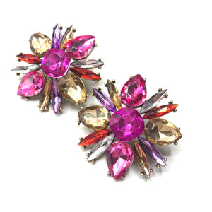 Azalea - sparkly flower earrings