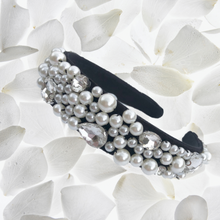 Load image into Gallery viewer, Lucy - Pearl covered velvet headband