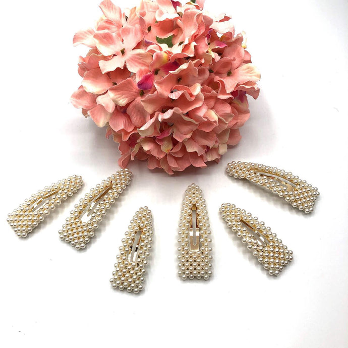 Gold and Pearl hair clips