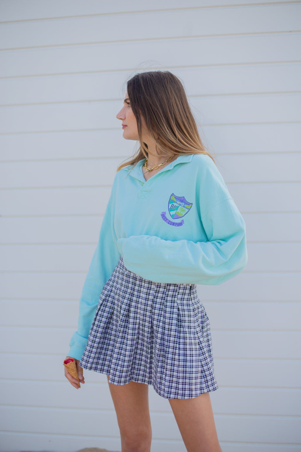 "SWEAT CROP MINT ""TOO COOL FOR SCHOOL"""