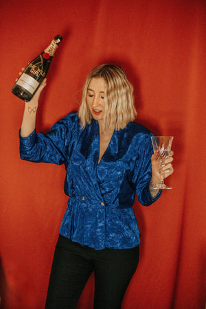 VINTAGE - BLOUSE « POP THE BOTTLE DARLING »
