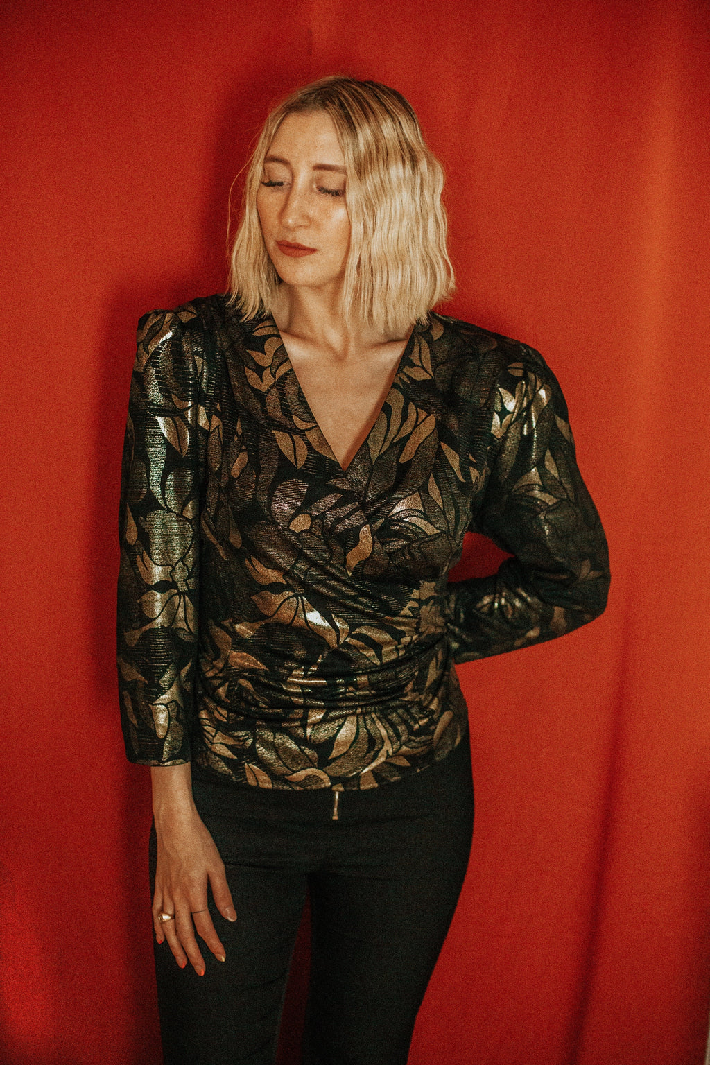 VINTAGE - BLOUSE « GO FOR THE GOLD »