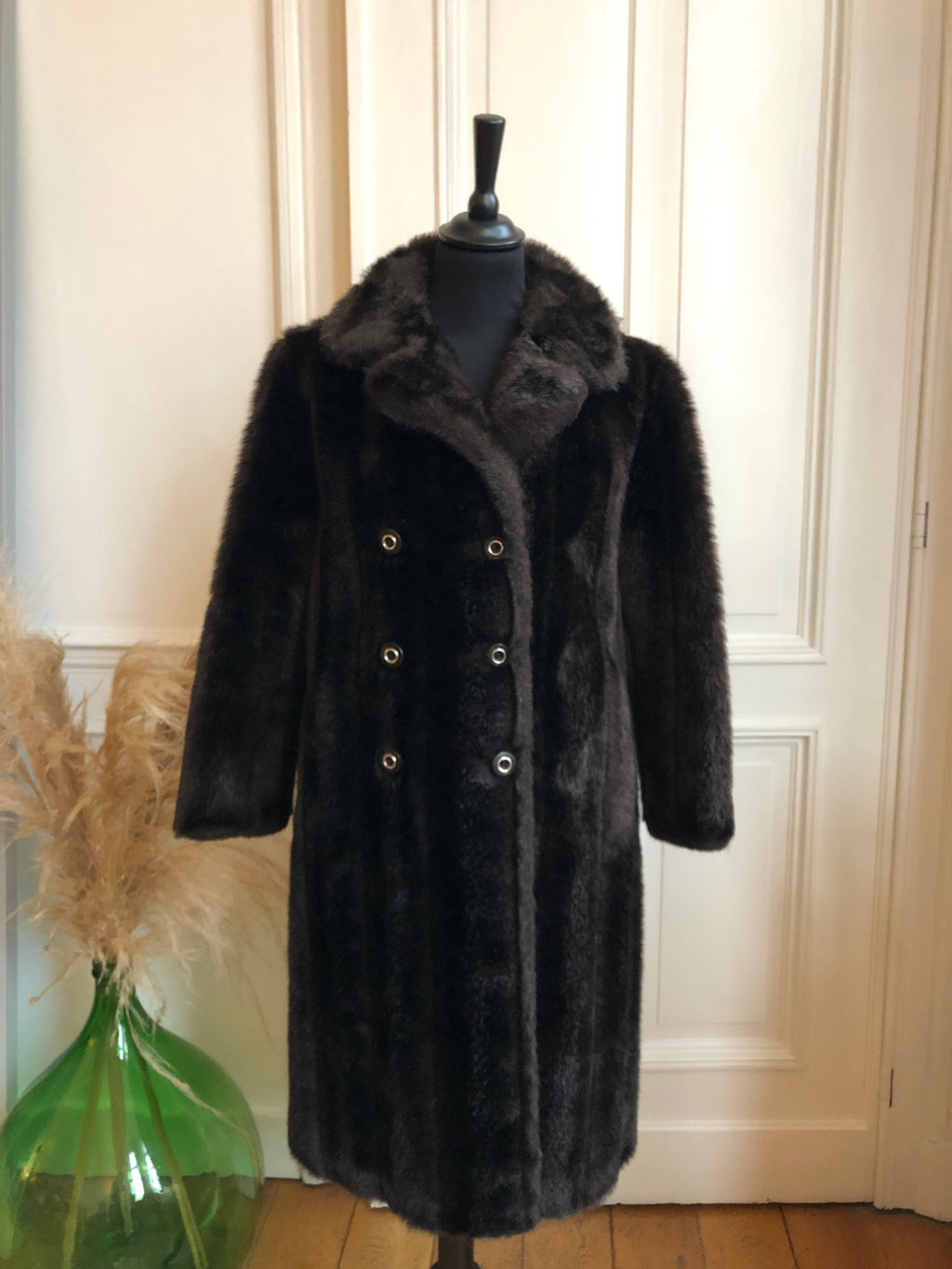 VINTAGE - MANTEAU FOURRURE « TEDDY »