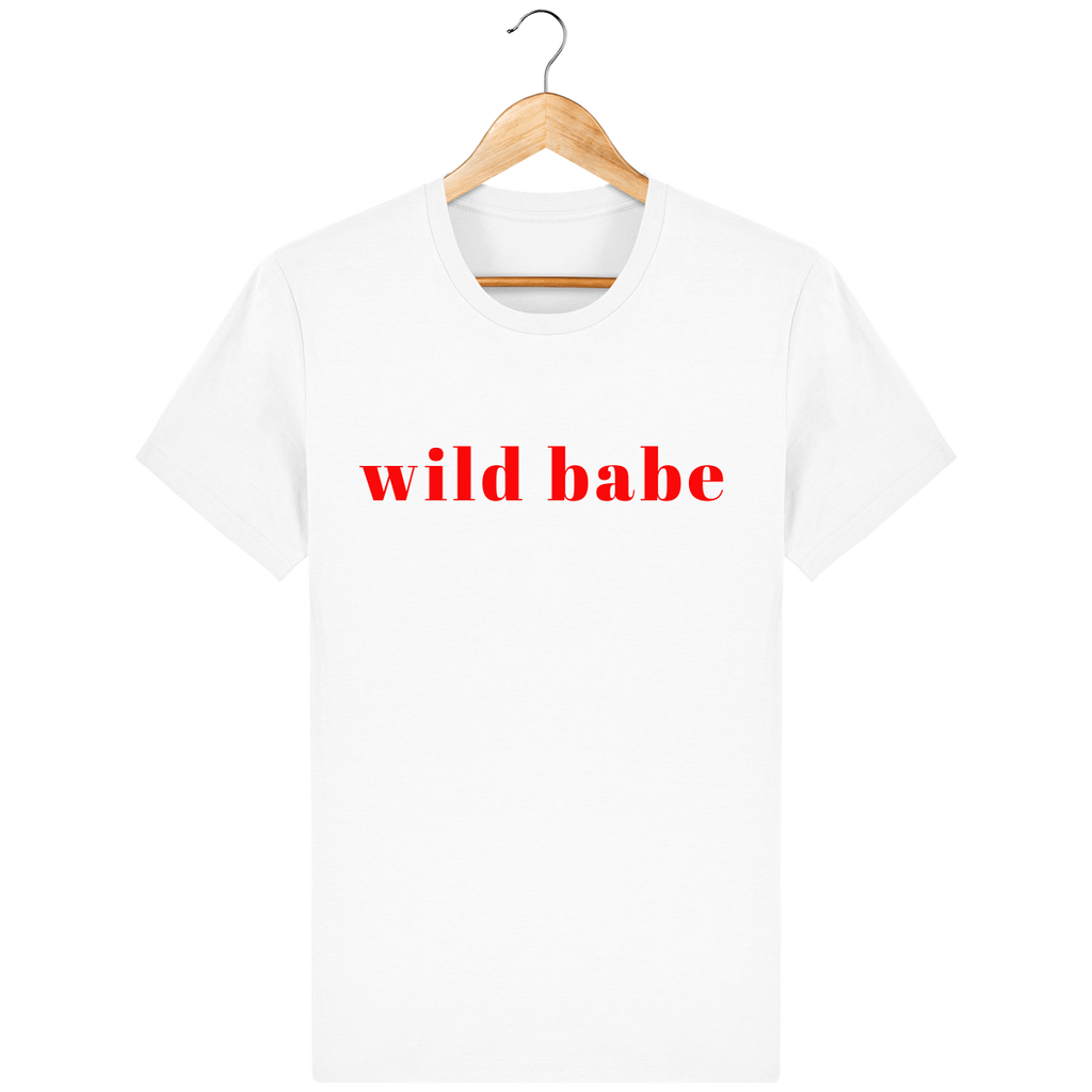 "TEE-SHIRT UNISEXE BIO ""WILD BABE"" VERSION VELOURS"