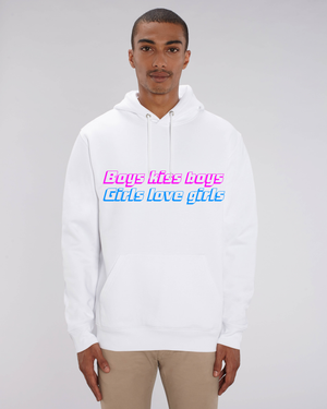 "SWEAT-SHIRT ""BOYS KISS BOYS, GIRLS LOVE GIRLS"" PINK/BLUE"