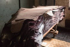history of leather craft - leather hides