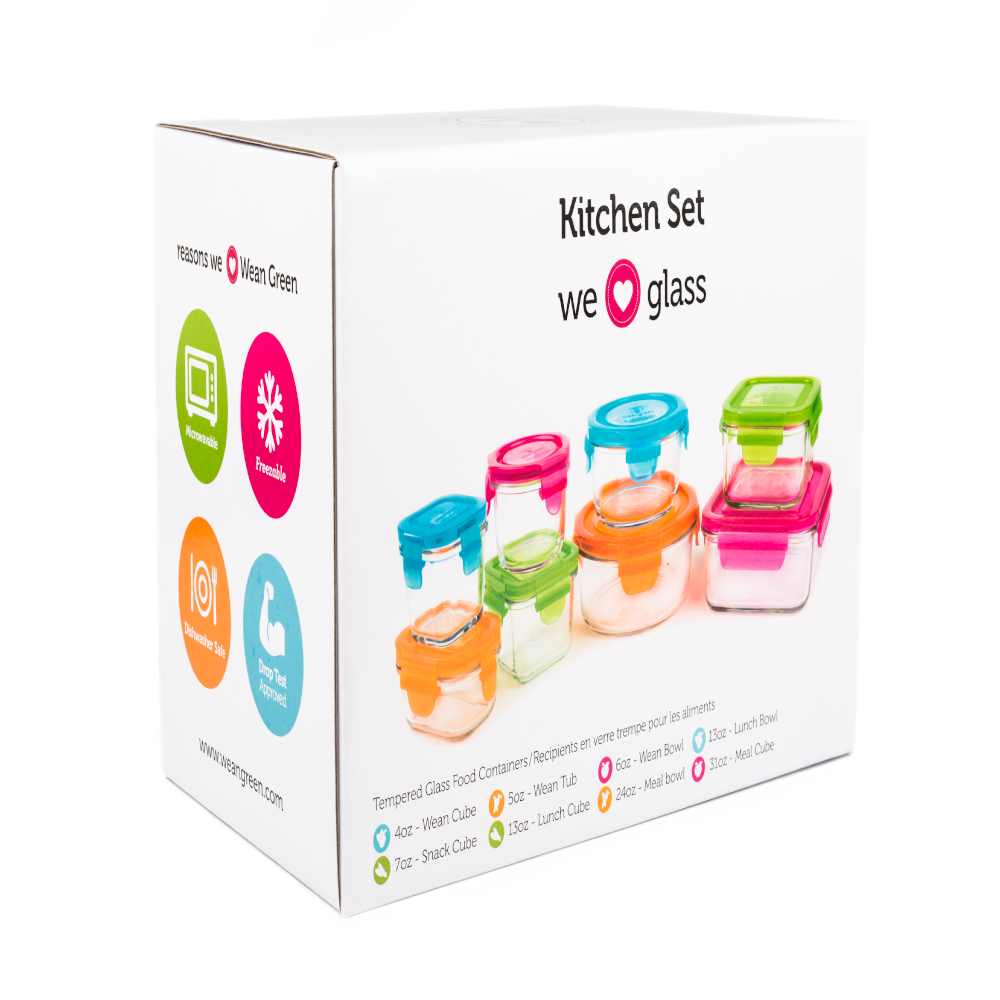Kitchen Starter Set Glass Containers