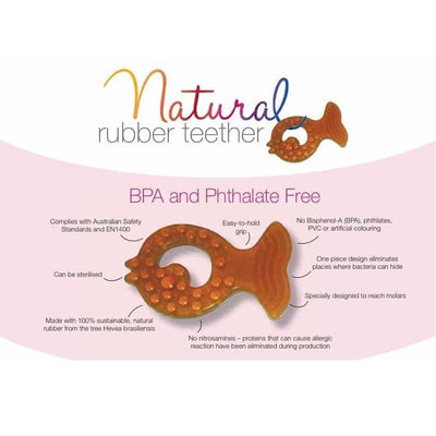Natural Rubber Soother Teether Fish