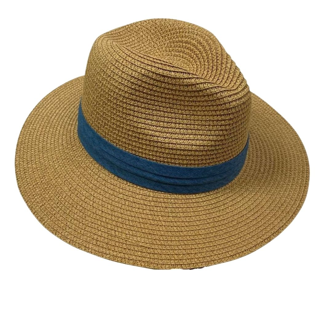 Panama Hat Denim Band