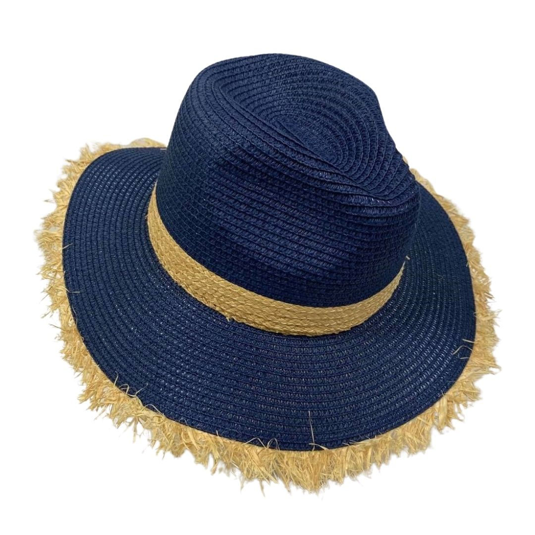 Straw Trim Panama Hat