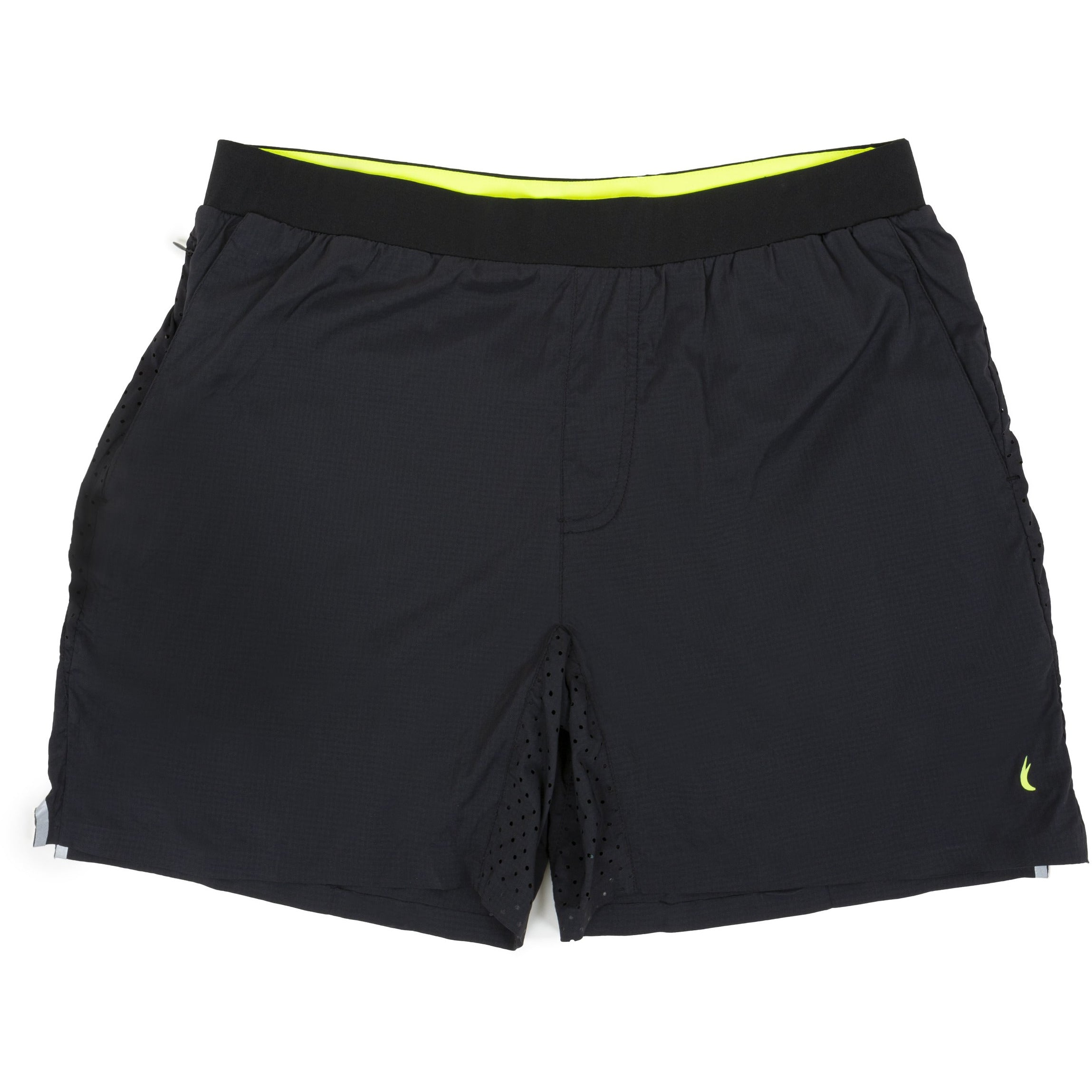 "The Bouldin Short - Black on Yellow 6.5"" 2 in 1"
