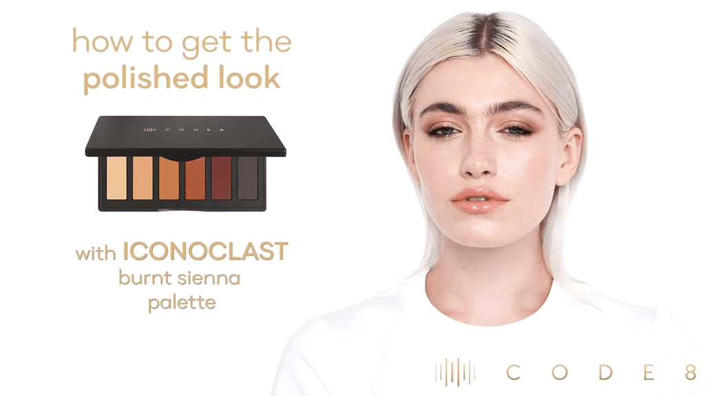 How to Get a Polished Look using Code8 Iconoclast Burnt Sienna Eyeshadow