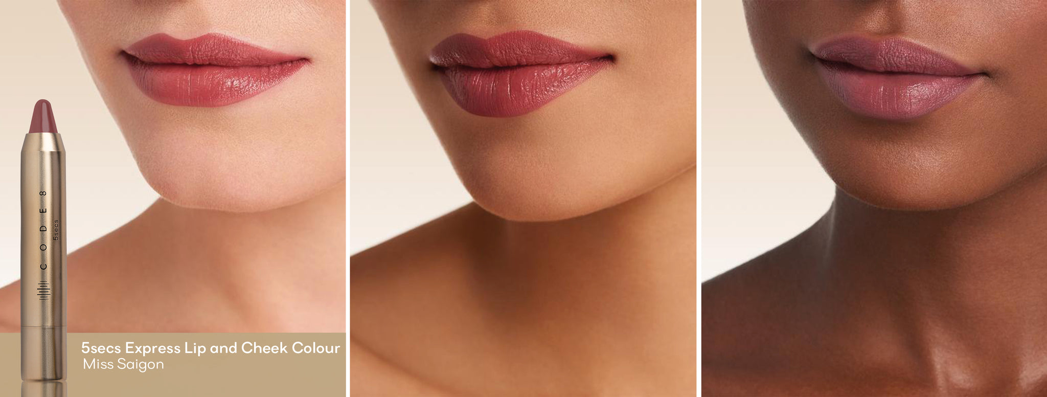 ode8's 5secs Express Lip and Cheek Colour -The Perfect Lip Colour for People With Green Eyes