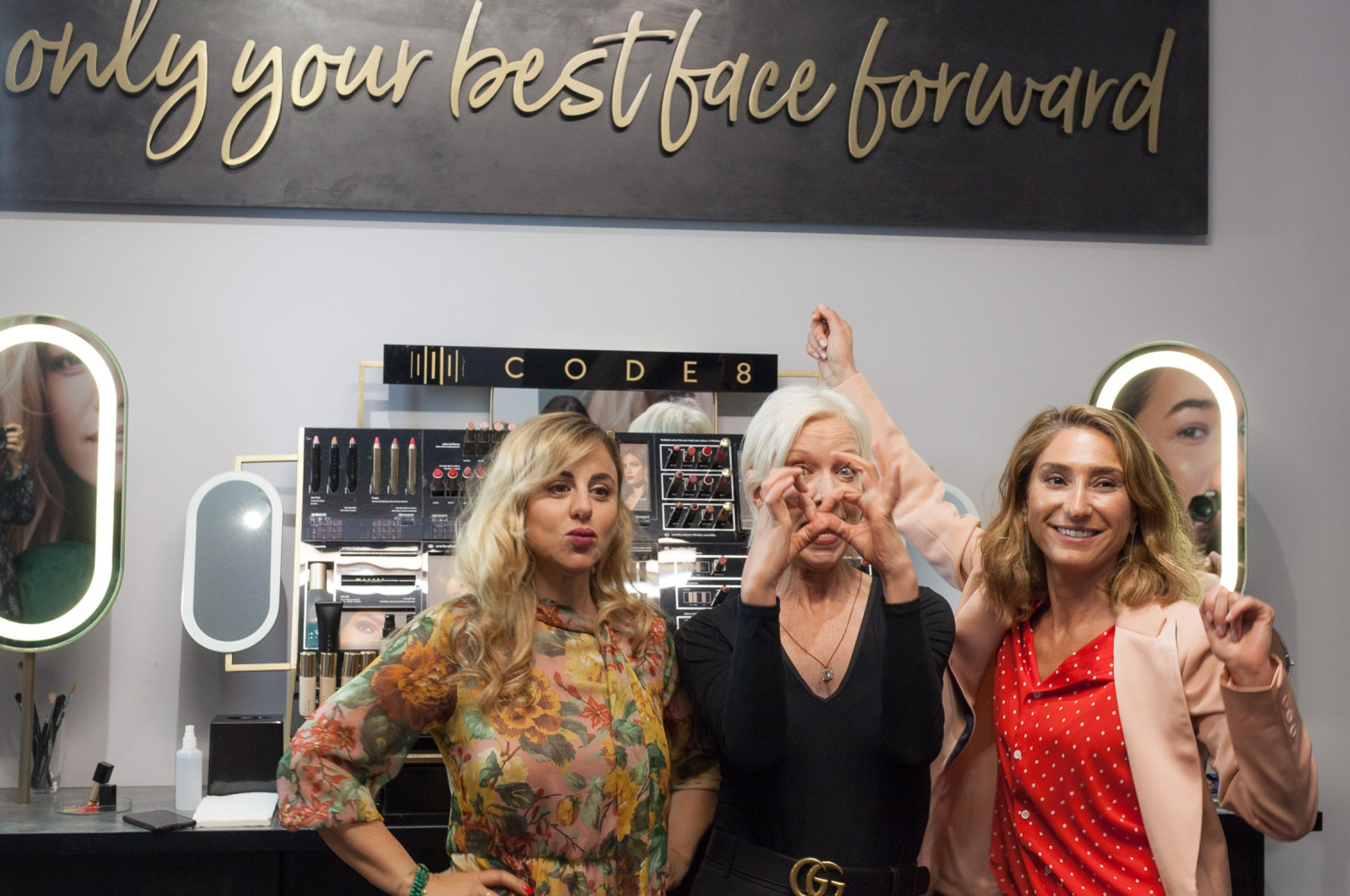 Mary Greenwell's Friends at Code8 Beauty Makeup Store in London