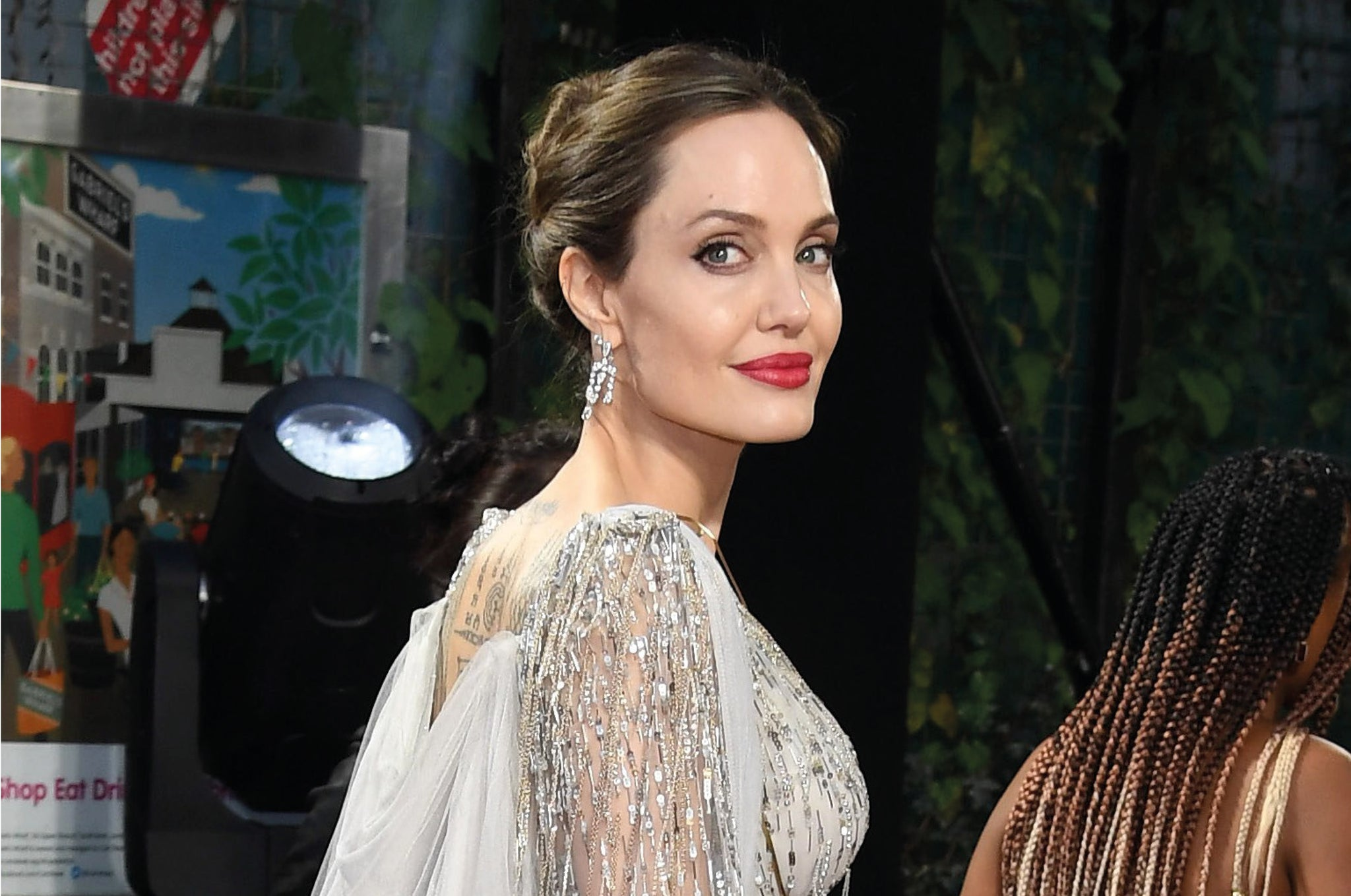 Angelina Jolie Wears a Bold Red Lip at a Red-Carpet Event