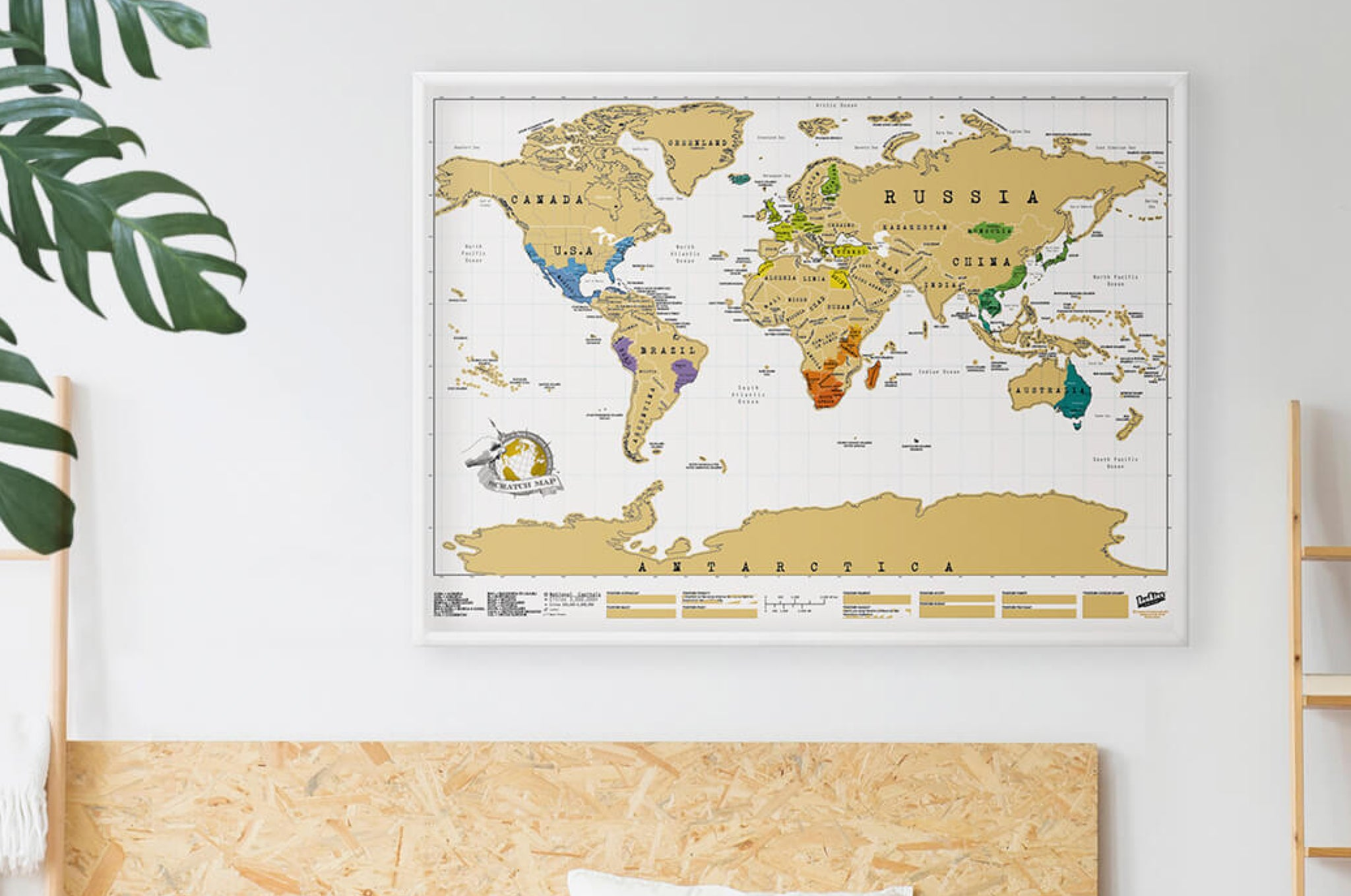 Gift For a Travel Lover – a Scratch Map
