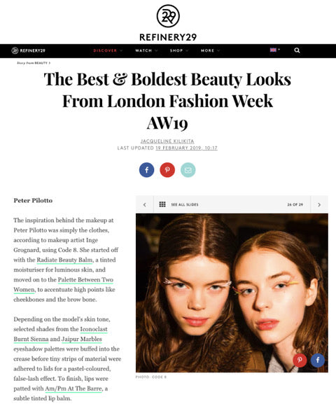 The boldest LFW makeup looks by Code8 according to Refinery 29