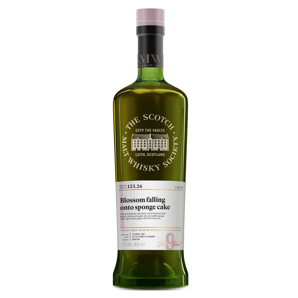 SMWS 123.26 'Blossom falling onto sponge cake' 2008 / 9 years old 61.2%