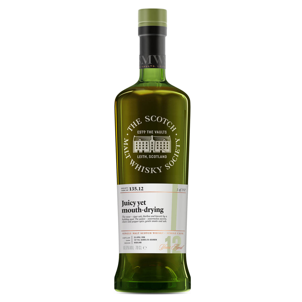 SMWS 135.12 'Juicy yet mouth-drying' 2006 / 12 years old 60%