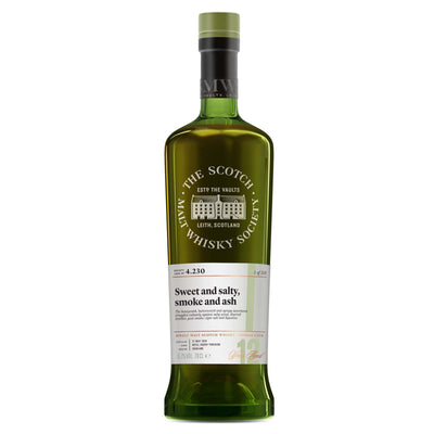 SMWS 4.230 'Sweet and salty, smoke and ash' 2004 / 12 years old 65.2%