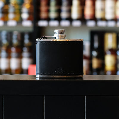 4oz Black Whisky Hip Flask