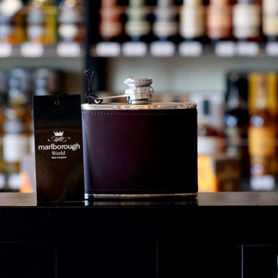 4oz Burgundy Whisky Hip Flask