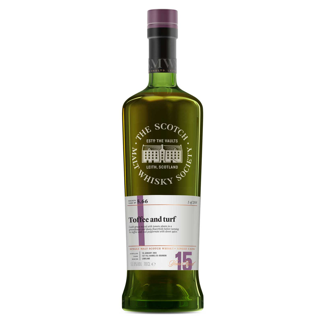 SMWS 5.66 'Toffee and turf' 2003 / 15 years old 55%