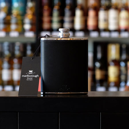 Black 6oz Hip Flask