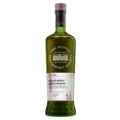 SMWS 73.92 'Spiced quince apple compote' 2002 / 14 years old 56.3%