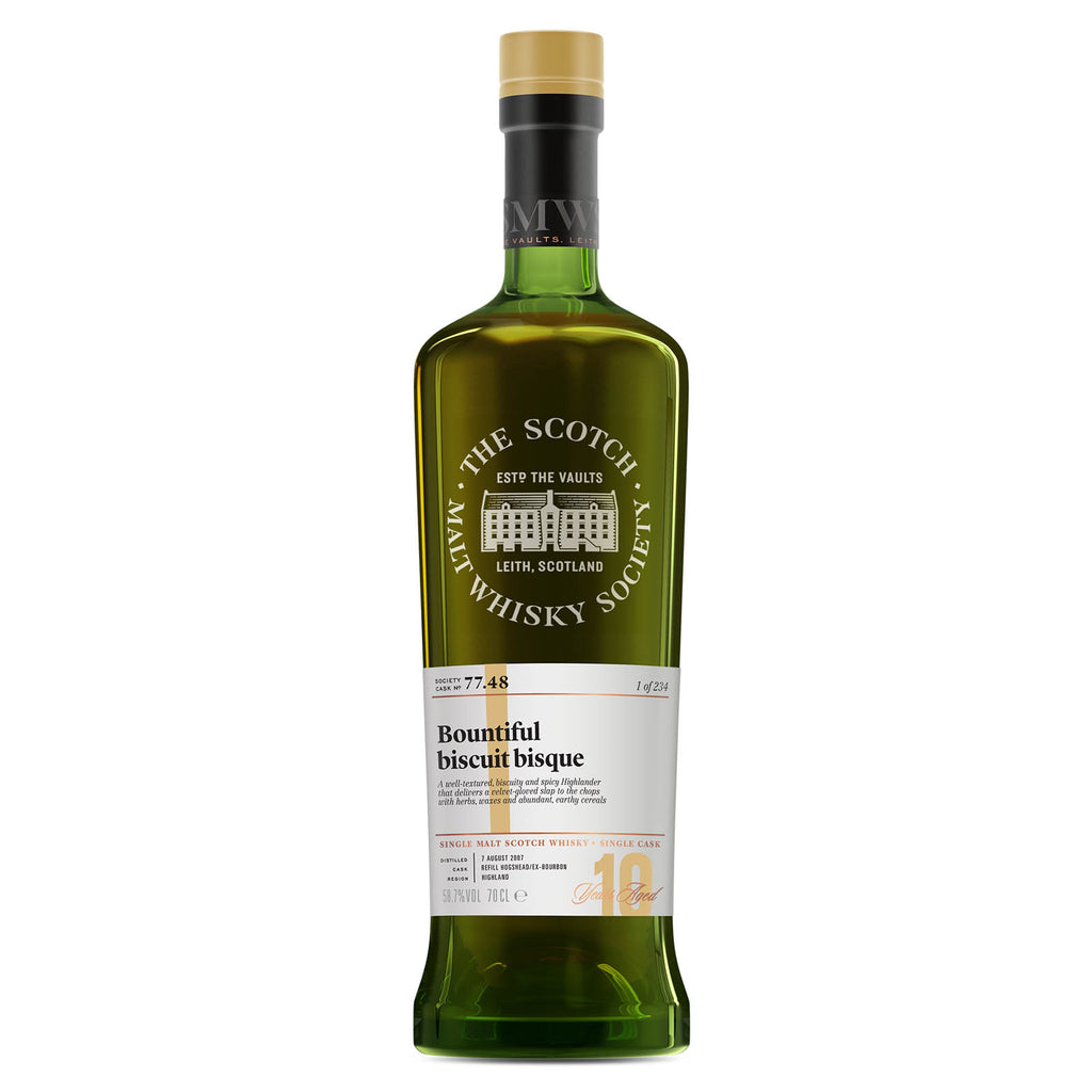 SMWS 77.48 'Bountiful biscuit bisque' 2007 / 10 years old 58.7%