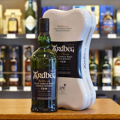 Ardbeg 10 years old 'Ardbone' Gift pack 46%