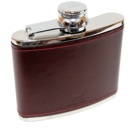 Burgundy 4oz Hip Flask