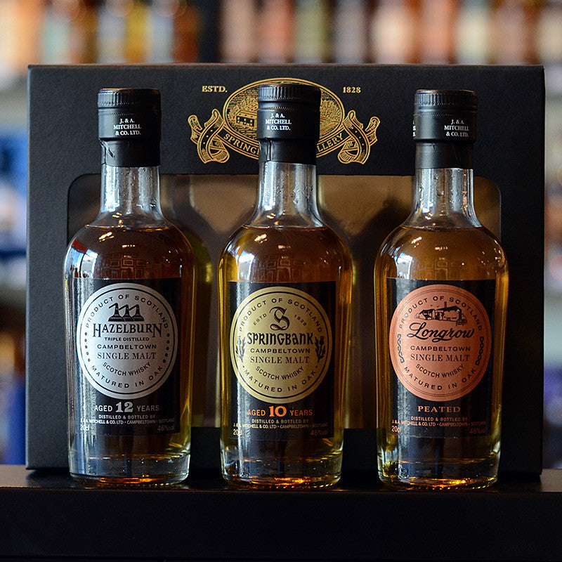 Campbeltown Malts Gift Pack 3x200ml 46%