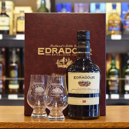 Edradour 10 years old 40% with 2 Glencairn Glasses