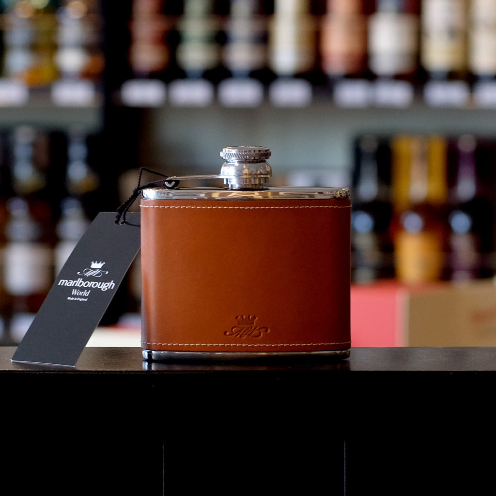 4oz Tan Coloured Whisky Hip Flask