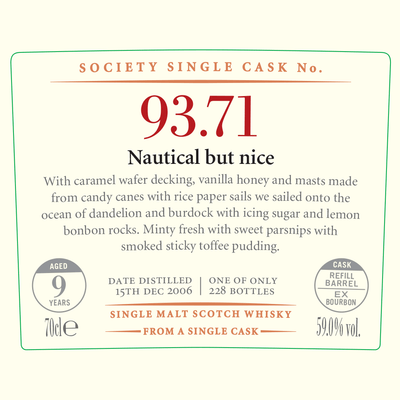 SMWS 93.71 'Nautical but nice' 2006 / 9 years old 59%