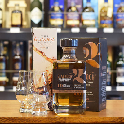 Bladnoch 10 years old  & two Glencairn Whisky Glasses