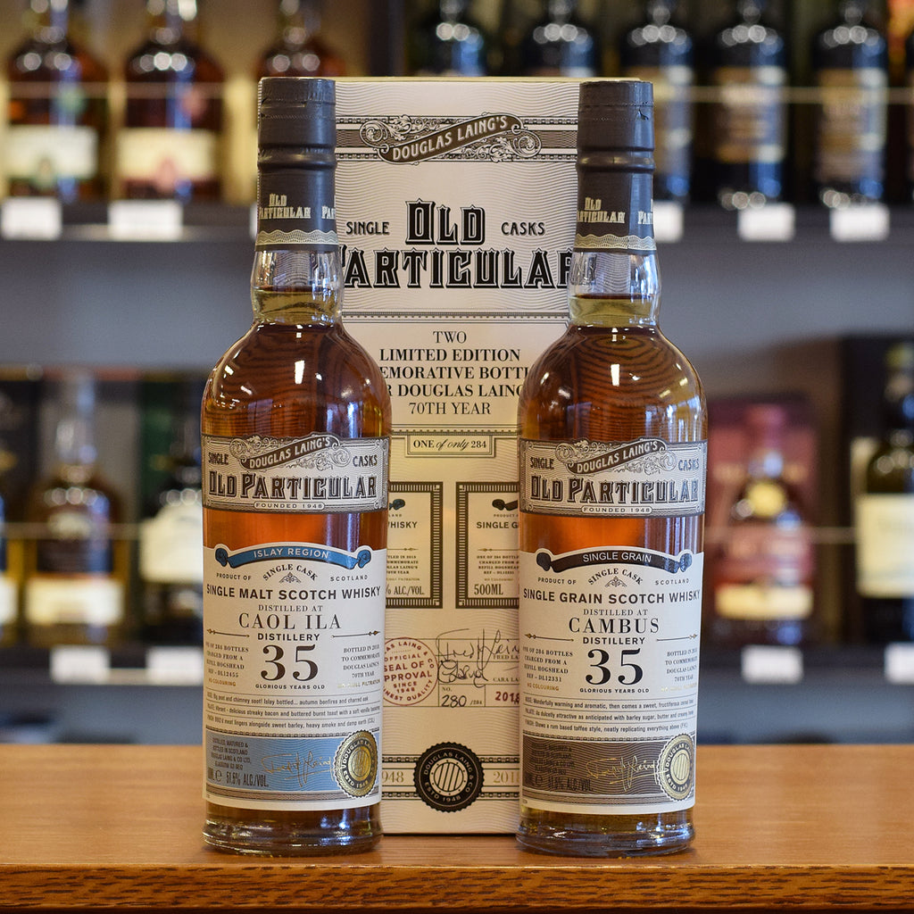 Caol Ila and Cambus 'Old Particular' 35 years old 51.5%