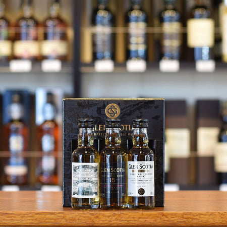 Glen Scotia Mini Gift Pack 3 x 50ml 46% and 51.5%